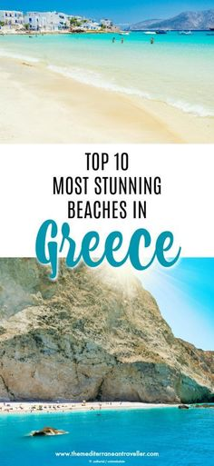 Looking for something a little spectacular for your next beach holiday? Here are the top 10 most beautiful beaches in Greece. There's something here for everyone - from Shipwreck Cove in Zakynthos to the lagoons of Crete, the lunar splendour of Santorini and Milos, to hidden gems in Koufonisia and Pelion.
