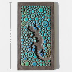 turquoise lizard  - home decor - gecko trivet - textured ceramic wall art- outdoor art - frost resistant reptile. €19,00, via Etsy.