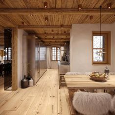 "Chalet ""Chesa Nimet"" in St. Moritz - Home Design Barn Homes Floor Plans, Barn House Plans, Barn Plans, Metal Building Homes, Building A House, Chalet Design, House Design, Chalet Interior, Interior Design"