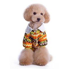 Umiwe(TM) Cute Fashion Print Cotton Cat Pet Dog Shirt Hoodie Dog Pajama Coat Pet Clothes Apparel (Yellow,L)With Umiwe Accessory