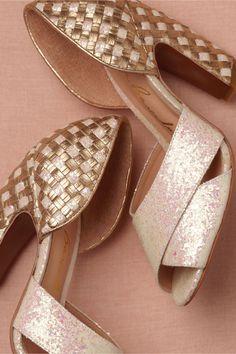 basketweave heels from BHLDN