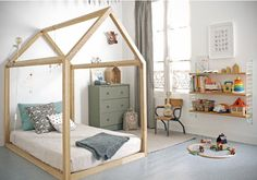 Kids nursery bed wooden house. Wood kids bed house. Children bed house .Play wood house.Play wooden house bed.Kids teepee ,infant tipi bed. by letterlyy on Etsy https://www.etsy.com/listing/259301288/kids-nursery-bed-wooden-house-wood-kids