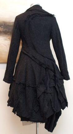 stilecht - mode für frauen mit format... - rundholz - Mantel Außennähte Wool anthra - Winter 2013