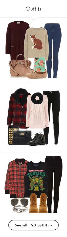 """""""Outfits"""" by jeana-gallard ❤ liked on Polyvore featuring Topshop, Mary Portas, Aubin & Wills, Charlotte Russe, Oasis, ALDO, J Brand, Miss Selfridge, River Island and Mulberry"""