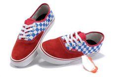 Red Vans Classics Blue White Checkerboard Authentic Shoes Sale Vans  Checkerboard c16da0c4d