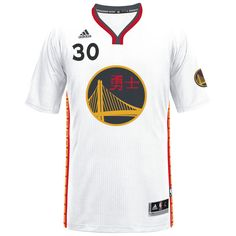 06d9eaa737e Men's Golden State Warriors Stephen Curry adidas White 2017 Chinese New Year  Swingman Jersey 2 Durant