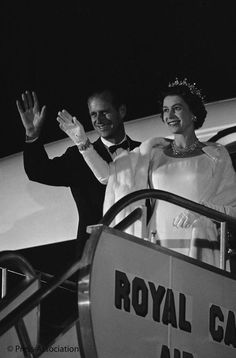 BritishMonarchy on Twitter:  Queen Elizabeth and the Duke of Edinburgh on tour, 1960s