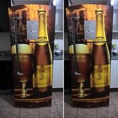 Refrigerator Wraps, Custom Paint, Whiskey Bottle, Envelope, Restoration, Cool Stuff, Retro, 30, Laser