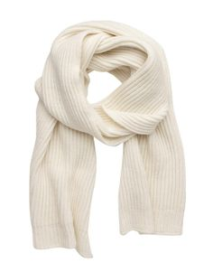 Knit scarf from Fashion at Beaver New Zealand Winter Must Haves, White Scarves, Knitting Accessories, Vintage Knitting, Winter Looks, Winter Wear, Coat, How To Wear, Stuff To Buy