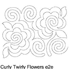 Curly Twirly Flowers Free Machine Quilting Pattern