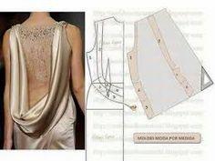 Resultado de imagen para vestidos con busto drapeado MOLDE
