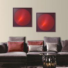 Abstract Zen Wall Art  UV Wall Decor in Red  3D by FeniksArtDeco