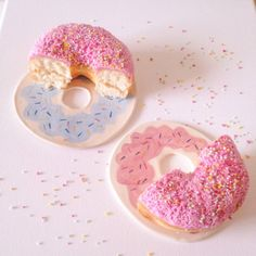 Donut plates by Laurie Melia
