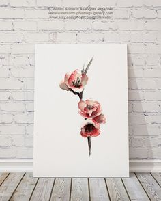 Cherry Blossom Flower Giclee Fine Art Print by ColorWatercolor