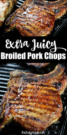 Pork And Beef Recipe, Pork Chop Recipes, Meat Recipes, Real Food Recipes, Oven Pork Chops, Lunch Recipes, Easy Dinner Recipes, Easy Meals, Kitchens