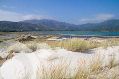 Sand dunes and tidal marsh in Carnota, with Monte Pindo at the back. Find all the information to plan your trip to #Carnota in www.qnatur.com