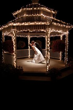 Evening Gazebo Wedding