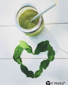Promote healthy glowing skin by celebrating #NationalSpinachDay with us!  Must haves to make this highly nutritional shake : 1 1/2 cups all natural organic apple juice 2 cups spinach 1/2 avocado 1 1/2 cups ice 1 1/2 cups Vanilla It Works! Shake Blend together, pour, and enjoy!