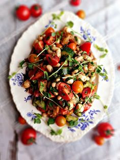 Tomato Basil Salad with White Beans and Bocconcini