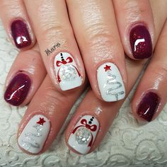 Christmas Nails That Boost Your Mood Winter nails. Fun designs for manicuresWinter nails. Fun designs for manicures Christmas Nail Art Designs, Winter Nail Designs, Gel Nail Designs, Nails Design, Xmas Nails, Holiday Nails, Xmas Nail Art, Simple Christmas Nails, Gel Nail Art
