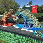 Canstruction returns to the Valspar Championship at Innisbrook Resort to create Jon and Val, the Valspar Chameleons out of over 4,000 full cans of food. All food used, sponsored by Valspar, was donated to Feeding America Tampa Bay following the event's end date on March 15, 2016. These CANtastic chameleons Cantribute thousands of meals to hungry families in the Tampa Bay area! #OneCanMakeaDifference #CanstructaWorldWithoutHunger
