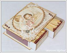 Mariannes papirverden.: Fyrstikkeske til jul - Pion Design