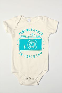 Photographer In Training Organic Baby Boy One-Piece