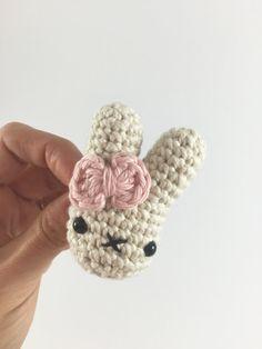 Crocheted Bunny Brooch/Pin crochet brooch crochet pin