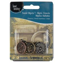 Bead Landing Found Objects Clock with Gears Charm Assortment