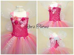 Rosetta Fairy Tinkerbell inspired tutu dress by ItsRoosTutus
