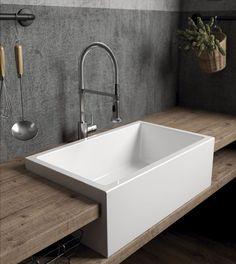 Hoy os mostramos ejemplos de unos lavabos que inspiran, que transmiten elegancia y delicadeza. Lavabos para baño , para cocina. Lavabos que convierten la zona de aguas de ambas estancias en protagonistas. Office Hogar: Elegancia natural. C/ Fco. Vitoria 15. Zaragoza #officehogar #fcovitoria15 #interiorismo #cocinasybañoszaragoza #cocinasybañosparasoñar #proyectos #diseño #yomequedoencasa #cocinasmodernas #galassia Sink, Bathtub, Bathroom, Wood, Kitchen, 1, House Ideas, Design, Natural