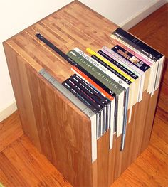 bookshelf I like it but am not sure that it wouldn't annoy me having to put each book back in the right place each time!