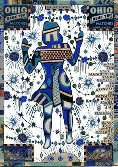 Ohio Blue Match Girl by Tony Fitzpatrick
