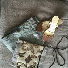 Ann Marino bronze colored SZ6 sandals Ann Marino Bronze colored with just the littlest touch of shimmer. SZ6, worn a half a dozen times at most. Beautiful beaded detail! These look fabulous with jeans, skirts, dresses, cover-ups...anything! Ann Marino Shoes Sandals