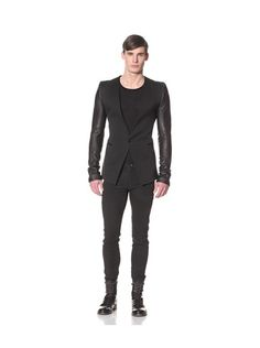 Gareth Pugh Mens Suit Jacket with Leather Sleeves, http://www.myhabit.com/ref=cm_sw_r_pi_mh_i?hash=page%3Dd%26dept%3Dmen%26sale%3DAT45RDVQHDZB2%26asin%3DB00BPPMF5M%26cAsin%3DB00BPPMGDI
