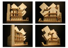 Architecture Design Studio 2 Final 1/4 Scale Model Museum board, bass wood, lots of glue