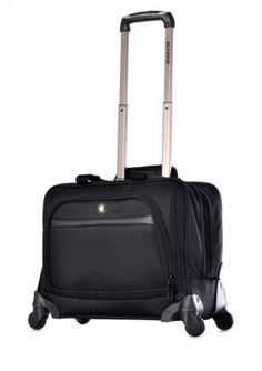 Olympia Luggage Black Business Rolling Spinner Tote - Online Only
