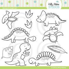Dinosaurio  sellos digitales uso de elementos comerciales