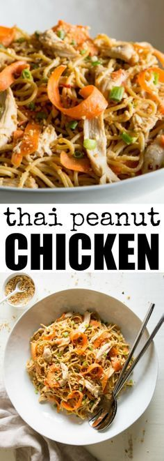Thai Peanut Chicken and Noodles is your roadmap to…