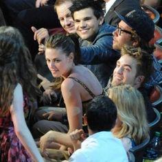 Taylor Lautner, Kristen Stewart and Robert Pattinson at the 2010 MTV Movie Awards