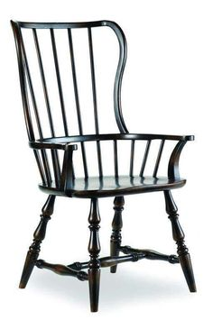 Shop the Sanctuary Spindleback Arm Chair by Hooker Furniture at Furnitureland South, the World's Largest Furniture Store and North Carolina's Premiere Furniture Showroom. Wooden Dining Room Chairs, Adirondack Chairs For Sale, Dining Chair Slipcovers, Kitchen Chairs, Spindle Chair, Spool Chair, Pink Desk Chair, Buy Chair, Pink Chairs