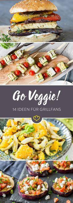 Beim Grillen dreht sich alles nur um Fleisch? Niemals! Beim Anblick dieser vegetarischen Rostspezialitäten kommen selbst eingefleischte Grillfans ins Wanken