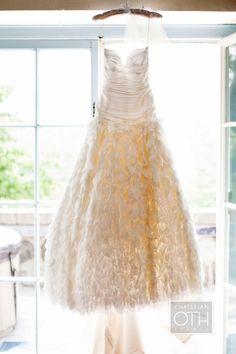 Stunning Wedding Gown ~ designed by the bride, Sonia Yoon ~ Bensoni.com ~ http://stylemepretty.com/2012/03/09/garrison-new-york-wedding-by-christian-oth-studio / Photography by Sue Kessler of christianothstudio.com