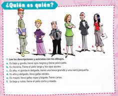Spanish Basics: How to Describe a Person's Face – Learn Spanish Spanish Worksheets, Spanish Games, Spanish Teaching Resources, Spanish 1, Spanish Activities, Class Activities, How To Speak Spanish, Learn Spanish, Free Worksheets