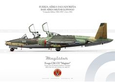 """Fouga CM.170 """"Magister"""" Air Fighter, Fighter Jets, Illustration Avion, Avion Jet, Military Love, Military Equipment, Fighter Aircraft, Aviation Art, Space Travel"""