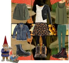 """Doc Martens inspired by Amelie Poulain"" by roccoco100 ❤ liked on Polyvore"
