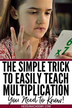 Try this simple trick to easily teach multiplication facts. Memorize multiplication tables easily and be on your way to higher and more complicated math in no time. This math trick has worked for my kids time and time again. Learning Multiplication, Multiplication Tables, Math Fractions, Multiplication Strategies, Maths Puzzles, Math Worksheets, Math Activities, Math For Kids, Fun Math
