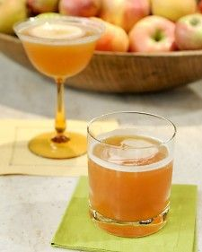 Yield Serves 2   Ingredients  3/4 cup apple cider  1/3 cup bourbon  2 tablespoons freshly squeezed lemon juice  2 (2 1/2-inch-long) thin slices fresh peeled         ginger  2 thin slices lady apple, for garnish   Directions Fill a cocktail shaker with ice. Add cider, bourbon, lemon juice, and ginger; shake to combine. Strain cocktail into 2 coupes. Garnish with apple slices.