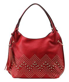 Another great find on #zulily! Red Studded Satchel #zulilyfinds