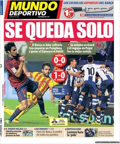 Los Titulares y Portadas de Noticias Destacadas Españolas del 20 de Octubre de 2013 del Diario Mundo Deportivo ¿Que le pareció esta Portada de este Diario Español?